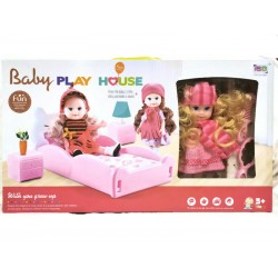 Комплект кукла със легло